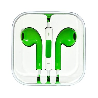 4XEM™ 4XAPPLEAR Earpod Earphones With Remote and Mic For iPhone/iPod/iPad, Green