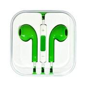 4XEM 4XAPPLEARPODGN Earpod Earphone with Remote and Mic, Green
