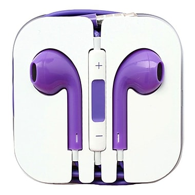 4XEM™ 4XAPPLEAR Earpod Earphones With Remote and Mic For iPhone/iPod/iPad, Purple
