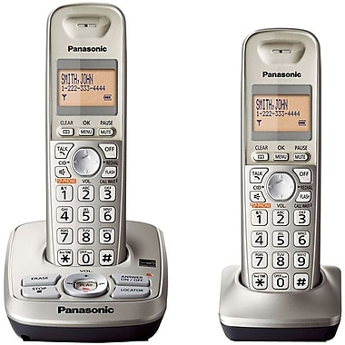 Panasonic KX-TG4222N Expandable Digital Cordless Phone With 2 Handsets, 50 Names/Numbers