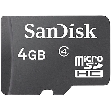 SanDisk® 4GB microSDHC (Micro Secure Digital High-Capacity) Class 4 Flash Memory Card With Adapter