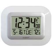 La Crosse Technology WT-8005U-W Plastic Digital Wall/Free Standing Clock, White