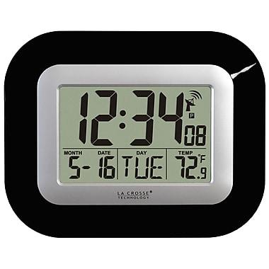 La Crosse Technology WT-8005U-B Atomic Digital Clock with temperature - Black