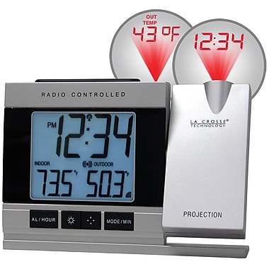 La Crosse Technology WT-5220U-IT Projection Digital Alarm Clock with Temperature