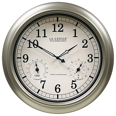 La Crosse Technology WT-3181PL Atomic Analog Outdoor Clock with temperature & humidity