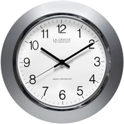 La Crosse Technology WT-3144S Plastic Analog Wall Clock, Silver