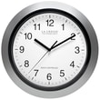 La Crosse Technology® 12in. Atomic Analog Wall Clock, Silver