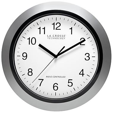 La Crosse Technology WT-3129S 12 Inch Atomic Analog Wall Clock - Silver