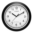 La Crosse Technology® 12in. Atomic Analog Wall Clock, Black
