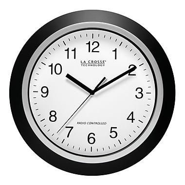 La Crosse Technology WT-3129B 12 Inch Black Atomic Analog Wall Clock