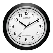 La Crosse Technology WT-3129B 12 Inch Black Atomic Analog Wall Clock
