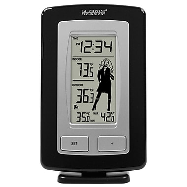 La Crosse Technology® Wireless Temperature Station With Advanced Weather Girl Icon
