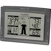La Crosse Technology WS-9611U-IT-CBP Digital Wireless Weather Station with Sun/Moon and Advanced Forecast Icon, Gray