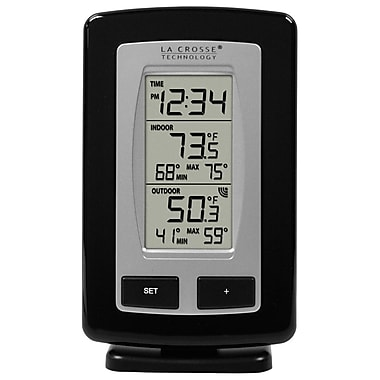 La Crosse Technology WS-9245UBK-IT Wireless Temperature Station with Time