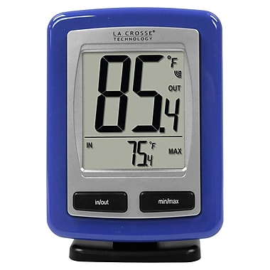 La Crosse Technology WS-9009B-IT Wireless Temperature Station with MIN/MAX recorded values, Blue