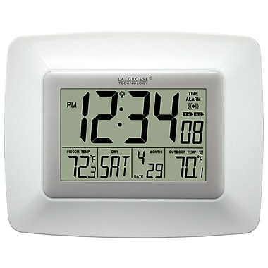 La Crosse Technology WS-8119U-IT-W Atomic Digital clock with temperature, White