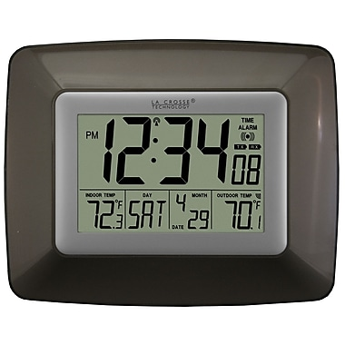 La Crosse Technology® Atomic Digital Clock With Temperature, Chocolate