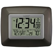 La Crosse Technology WS-8119U-IT-CHO Digital Wall/Free Standing Clock, Brown