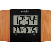 La Crosse Technology® Atomic Digital Wall Clock With Moon Phase & Temperature, Oak
