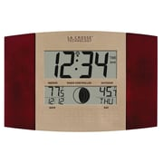 La Crosse Technology® Atomic Digital Wall Clock With Moon Phase & Temperature, Cherry