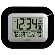 La Crosse Technology® Digital Atomic Wall Clock With Temperature, Black