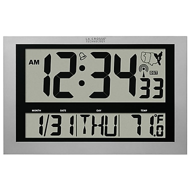La Crosse Technology® Jumbo Atomic Digital Wall Clock With IN Temp