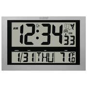 La Crosse Technology 513-1211 Plastic Digital Wall/Free Standing Clock, Silver