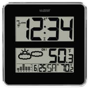 La Crosse Technology 512B-811 Digital Wall/Free Standing Clock, Black/Silver