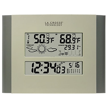 La Crosse Technology® 7in. Atomic Digital Wall Clock With Forecast & Weather
