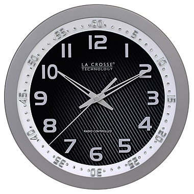 La Crosse Technology® 10in. WWVB Chapter Ring Wall Analog Clock, Silver