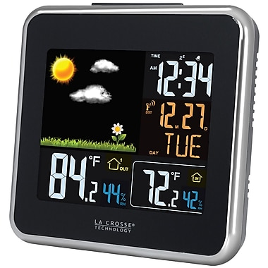La Crosse Technology 308-146 Wireless Color Forecast Station with USB charging port