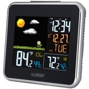 La Crosse Technology 308-146 Plastic Digital Wireless Atomic Color Weather Station with USB Charging, Black