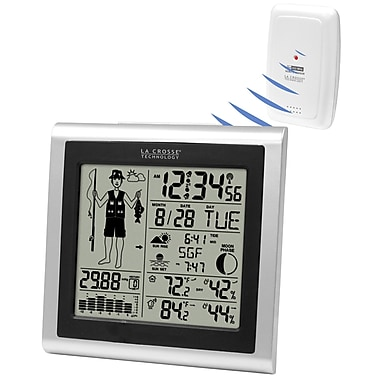 La Crosse Technology 308-1451 Wireless Forecast Station with Fisherman Icon