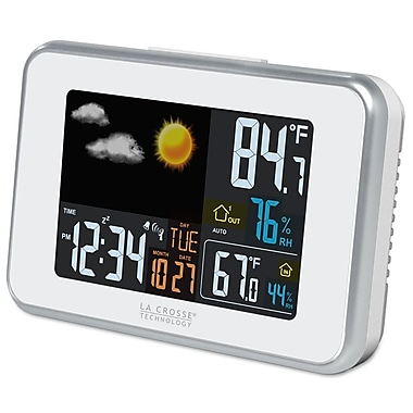 La Crosse Technology® 6in. Wireless Color Forecast Station With USB Charge Port, White