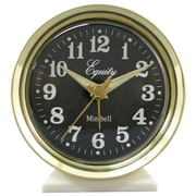 Equity By La Crosse 12020 Metal Analog Wind-Up Bell Alarm Clock, Gold