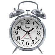 Equity by La Crosse™ Analog Twin Bell Quartz Alarm Clock, Silver