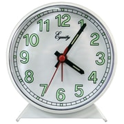 Equity By La Crosse 14076 Analog Table Clock, White