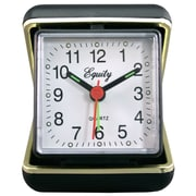 Equity By La Crosse 20080 Plastic Analog Travel Clock, Black