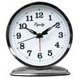 Equity By La Crosse 24014 Metal Analog Table Clock, Silver
