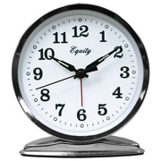 Equity By La Crosse 24014 Metal Analog Table Clock, Silver