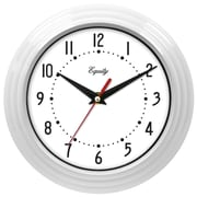 Equity By La Crosse 25011 Plastic Analog Wall Clock, White