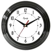 Equity By La Crosse 25013 Plastic Analog Wall Clock, Black