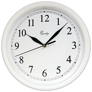 Equity by La Crosse™ 10in. Wall Clock, White