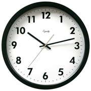 Equity By La Crosse 25509 Plastic Analog Commercial Wall Clock, Black