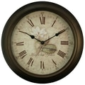 Equity by La Crosse™ 12in. metal Analog Clock With Antique dial, Brown