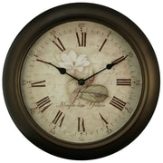 Equity by La Crosse™ 12 metal Analog Clock With Antique dial, Brown