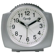 Equity by La Crosse™ Analog Quartz Alarm Clock, Silver