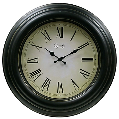 Equity by La Crosse™ 20in. Antique Wall Clock, Black