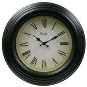 Equity by La Crosse™ 20 Antique Wall Clock, Black