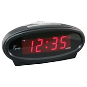 Equity By La Crosse 30228 Plastic Digital LED Alarm Clock, Black